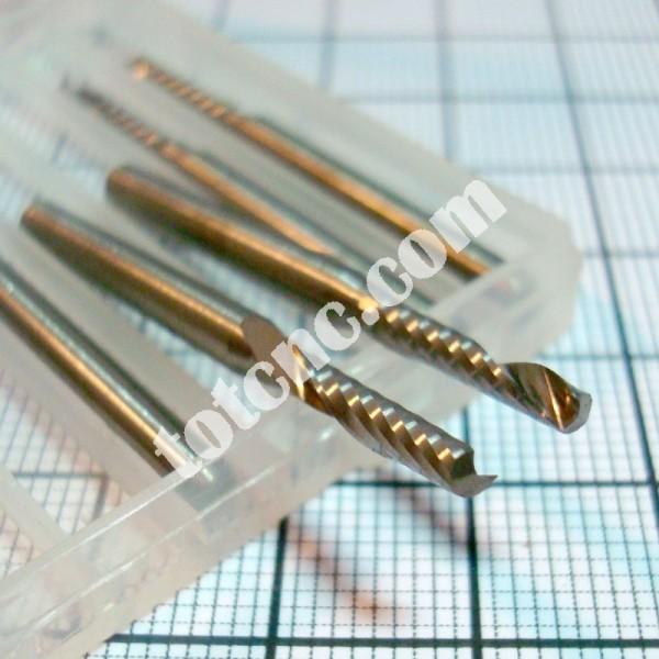 Фрезы концевые однозаходные для 2D фрезерования хвостовик D3.175мм