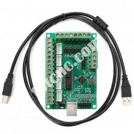 Плата коммутационная (USB контроллер) 5 осей 100кГц