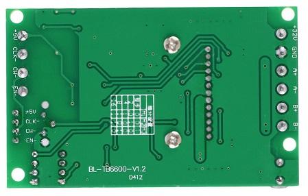 Драйвер шагового двигателя BL-TB6600-V1.2.0 вид снизу