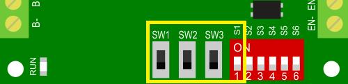 Установка выходного тока в рабочем режиме двигателя (вращение)