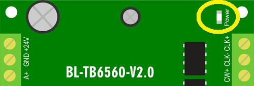 Индикатор питания драйвера BL-TB6560-V2.0