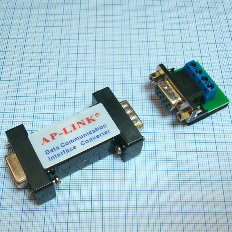 Конвертер AP-LINK RS232 - RS485 (DB9) COM вид снизу